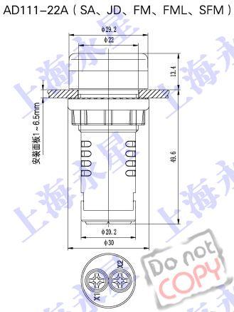 ad111系列指示灯采用led发光芯片
